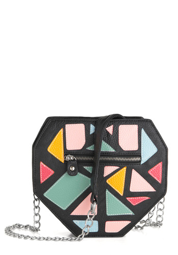Director's Cut Bag - Solid, Patch, Chain, Yellow, Green, Pink, Black, Girls Night Out