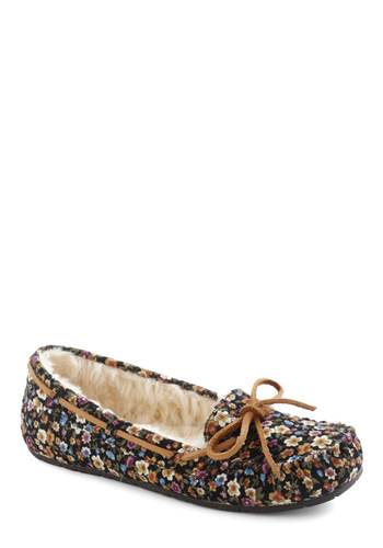 Meadow at Midnight Slipper by BC Footwear - Black, Multi, Floral, Casual, Flat