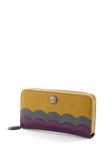 Pay Compliments Wallet by Darling - Yellow, Purple, Grey, Solid, Vintage Inspired