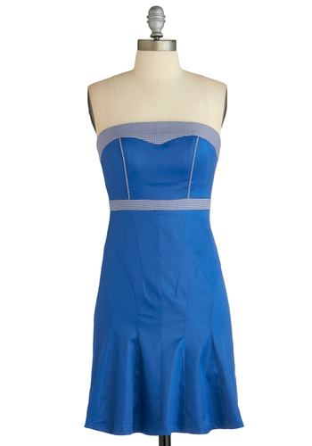 Sample 1953 - Blue, Party, Sheath / Shift, Strapless