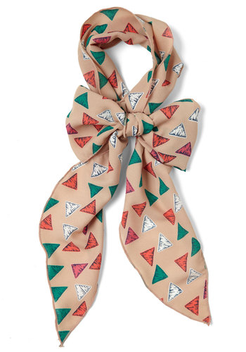 Came to Get Town Scarf in Rooftops - Multi, Orange, Green, Tan / Cream, Print, Casual