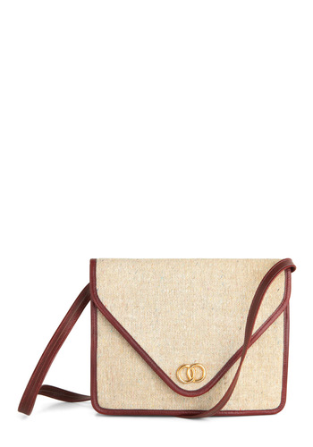 Vintage Networking Pro Shoulder Bag - Tan, Red, 70s