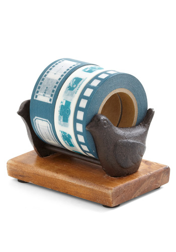 Stick with Us Tape Dispenser - Brown, Dorm Decor, Handmade & DIY