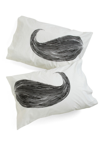 Whisker Me to Sleep Pillowcase Set - White, Rockabilly, Dorm Decor, Quirky, Black, Cotton, Good, Top Rated, Guys, 4th of July Sale