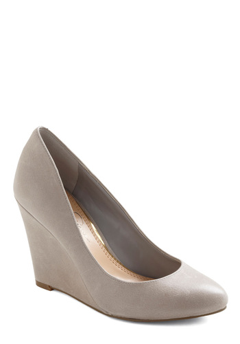 You Rock Wedge - Wedge, Grey, Solid, Work, Mid, Leather