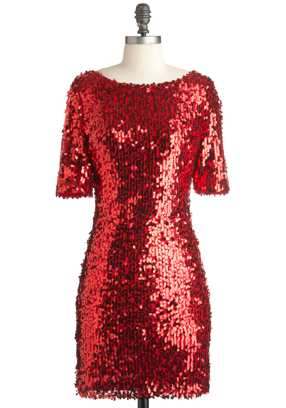 Red Sequined Dresses