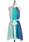 Scoop of Sorbet Dress in Blue - Blue, Green, Party, Sheath / Shift, Sleeveless, Summer, Belted, Colorblocking, Short, Tis the Season Sale, Beach/Resort