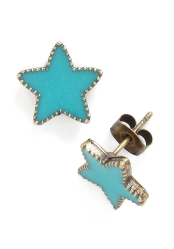 The Road to Stardom Earrings - Blue, Solid, Casual, Summer