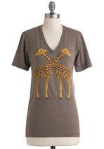 Neck and Neck Top | Mod Retro Vintage T-Shirts | ModCloth.com :  tshirt giraffe