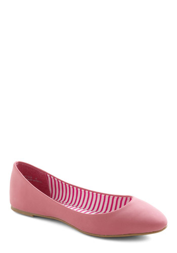 Strawberry Malt Flat - Pink, Solid, Flat, Casual, Faux Leather