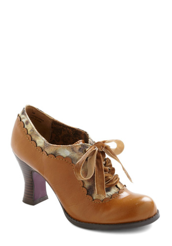Pie Invitational Shoe - Brown, Tan / Cream, Work, Vintage Inspired, Fall, Scholastic/Collegiate, Leather, Mid