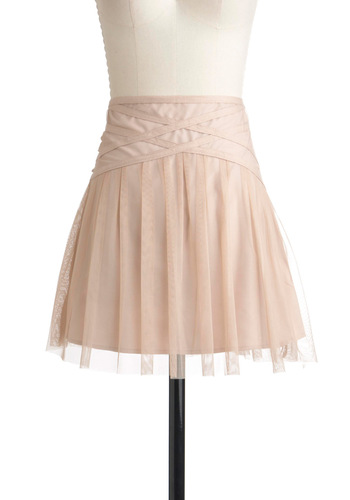 Prima and Proper Skirt by Jack by BB Dakota - Short, Pink, Solid, Party, Ballerina / Tutu, Fairytale, French / Victorian, Pastel, Holiday Party, Sheer, Daytime Party