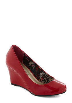 Your Gait Is Sealed Wedge in Crimson