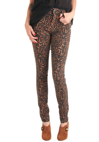 Prowling for Style Jeans - Brown, Black, Animal Print, Pockets, Casual, Skinny, Urban, Denim, Girls Night Out, High Waist