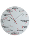 Where T Equals Time Clock by Decor Craft Inc. - White, Dorm Decor, Scholastic/Collegiate, Quirky, Better