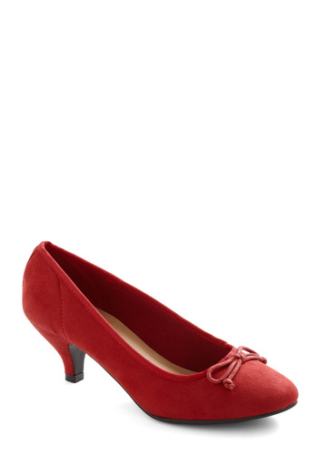 Metro Marvelous Heel in Red - Red, Solid, Bows, Work, Holiday Party, Mid, Variation