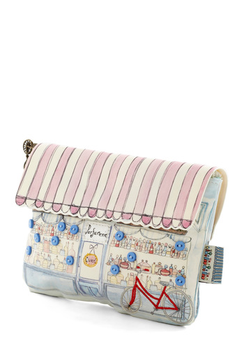 Magnifique Boutique Makeup Bag by Disaster Designs - Multi, Travel, Pastel, Mint, French / Victorian, International Designer