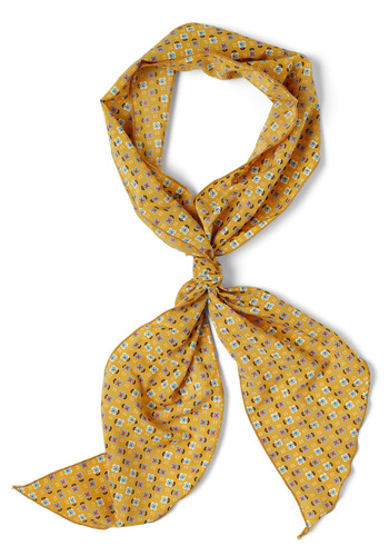 Sun Flowering Scarf - Yellow, Multi, Floral, Casual