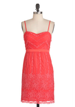 Coral Arrangements Dress
