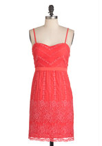 Coral Arrangements Dress