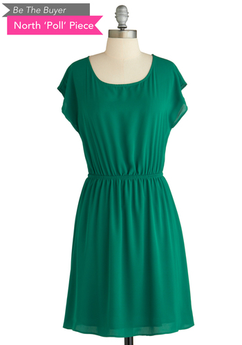 Sample 1974 - Green, Solid, Cutout, Casual, A-line, Cap Sleeves