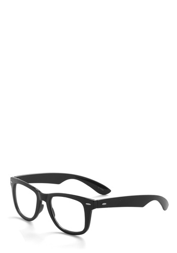 Quite a Sight Glasses - Black, Solid, Casual, Vintage Inspired, Statement, Work, Scholastic/Collegiate