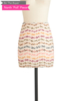 BTB FLORAL MINI SKIRT in Pink Multi