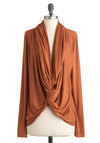 Lakeside Escape Cardigan in Rust - Orange, Solid, Casual, Long Sleeve, Fall, Rustic, Mid-length