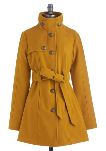 South Bank Stroll Coat in Goldenrod