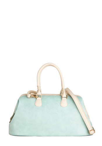 Fresh and Green Bag - Green, White, Pastel, Faux Leather, Mint