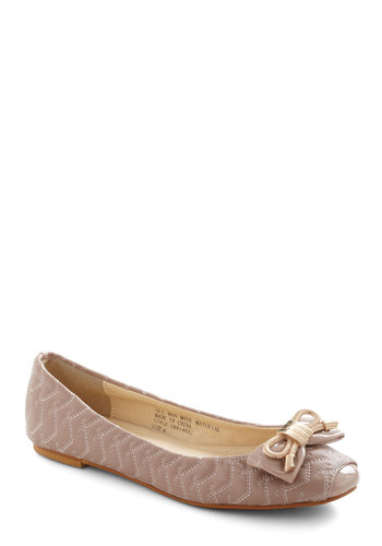 Mauve in My Direction Flat - Pink, Bows, Quilted, Flat, Casual, Pastel, Faux Leather