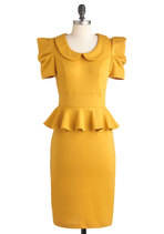 Dresses - Work With Me Dress in Mustard