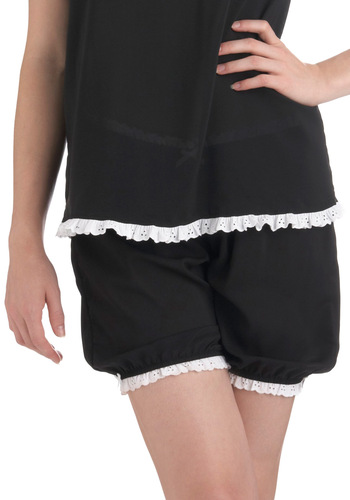 Dreams' Best Dressed Sleep Bottom - Black, White, Casual, Vintage Inspired, Exclusives