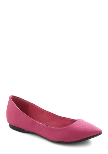 Pointing the Way Flats in Raspberry - Pink, Solid, Flat, Spring