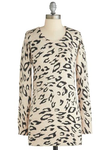 Sample 2027 - Tan, Black, Animal Print, Casual, Long Sleeve