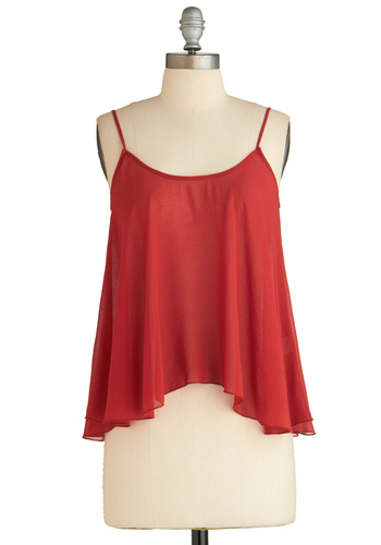 Sample 2037 - Red, Solid, Casual, Spaghetti Straps