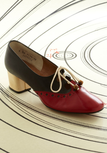 Vintage Reserve Constance Heel - Multi, Red, Tan / Cream, Black, Casual, Vintage Inspired, 60s, Vintage Reserve