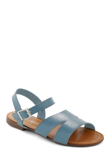Sunset Queendom Sandal in Sky - Blue, Solid, Casual, Boho, Summer
