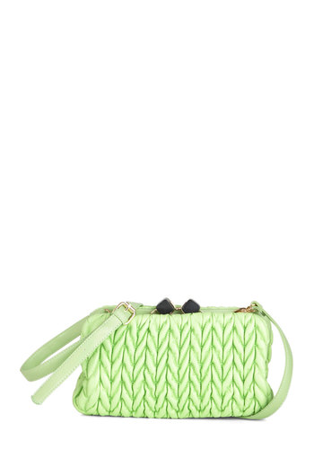 New York Electricity Clutch - Green, Black, Solid, Quilted, Statement, Cocktail, Tis the Season Sale