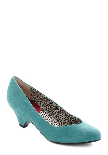 Stand in Awe Heel in Sky by BC Footwear - Blue, Solid, Work, Fall