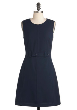 Thoroughly Mod Dress in Navy