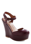 Home Again Wedge - Wedge, Buckles, Party, Vintage Inspired, Leather, Platform, High