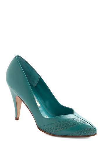 Vintage Teal Me on the Go Heel