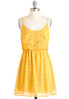 Happy You're Here Dress - Short, Yellow, Multi, Buttons, Pockets, Casual, A-line, Racerback, Summer, 80s, Sheer