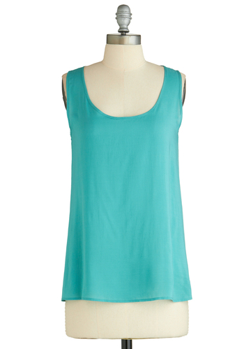 Sample 2052 - Blue, Solid, Cutout, Sleeveless