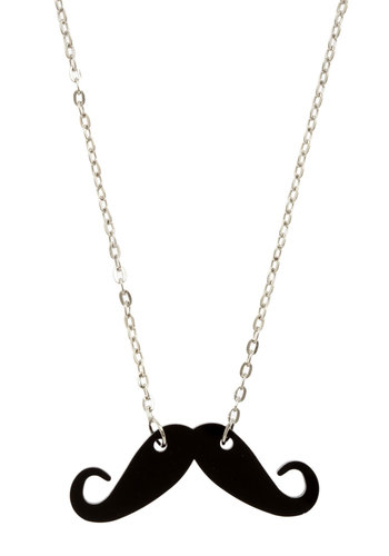 Haute Handlebar Necklace - Black, Silver, Chain, Casual, Quirky, Menswear Inspired