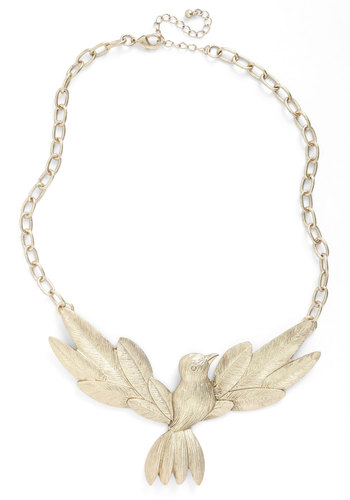 Perchin Place or Thing Necklace - Gold, Statement
