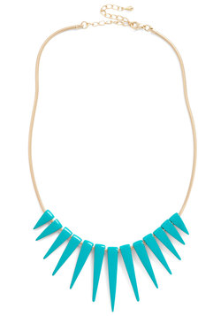 Spike an Interest Necklace in Teal