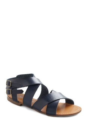 Strolling in the Deep Sandal - Blue, Solid, Casual, Boho, Summer