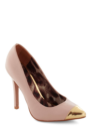 Master Classy Heel - Gold, Solid, High, Pink, Party, 80s, Faux Leather